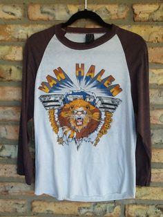 VAN HALEN baseball jersey concert tour t-shirt 1982