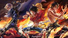 Sabo, Luffy , and Ace - One Piece Wallpaper