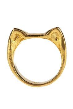 Gold Cat Ring  #bijoux #bijouxcreateur #bijouxfantaisie