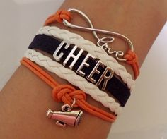 Cheer bracelet love cheer Bracelet Cheerleader by SummerWishes