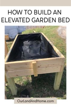 - Learn how to build your very own DIY elevated garden bed. No more stooping over to garden, bring the garden to you! Make your own bed with our step-by-step instructions. – marvelous a raised garden bed , raised , garden beds diy , garden beds easy Cheap Raised Garden Beds, Elevated Garden Beds, Building Raised Garden Beds, Raised Gardens, Raised Garden Planters, Raised Garden Bed Plans, Garden Planter Boxes, Raised Vegetable Gardens, Pallet Raised Garden Ideas