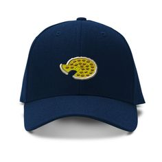 Pizza Embroidery Embroidered Adjustable Hat Baseball Cap
