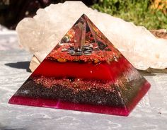 Orgonite Pyramid ~ Ground and Protect ~ connect to your Root Chakra while cleansing your energetic field of imbalanced EMFs.