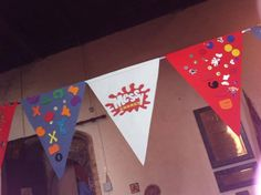 homemade Messy Church logo bunting (thanks to Messy Church Oakley / Bromham) Church Logo, Church Crafts, Church Ideas, Bunting, Oakley, Thankful, Craft Ideas, Homemade, Activities