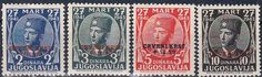 Yugoslavia -Postage stamps with Red Cross overprint.