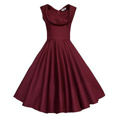 Maggie Tang Women's 1950's Floral Vintage Garden Dress S Color Burgundy Maggie Tang http://www.amazon.co.uk/dp/B00S7CQEK8/ref=cm_sw_r_pi_dp_fsKRwb1H0RV7R