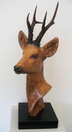 David Cemmick Clay Crafts, Moose Art, Sculptures, Ceramic Animals, Skirting Boards, Sculpture, Sculpting, Statue, Marbles