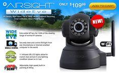 AirSight Wide Angle Wireless IP Camera