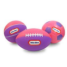 Little Tikes Color Mini Sports Balls - Pink and Purple Football