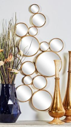 8 Ingenious Tips: Whole Wall Mirror Home oval wall mirror small bathrooms.Wall Mirror House Doctor gallery wall mirror black and white. Tall Wall Mirrors, Silver Wall Mirror, Round Wall Mirror, Round Mirrors, Wall Mirror Ideas, Vintage Wall Mirrors, Decorative Wall Mirrors, Diy Mirror Decor, Sunburst Mirror