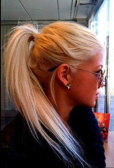 hair hair ponytail