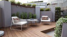 Slik forvandlet «Tid for hjem Outdoor Sofa, Outdoor Living, Outdoor Furniture Sets, Outdoor Decor, Back Gardens, Outdoor Gardens, Villa, Low Maintenance Garden, Outside Living