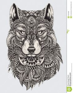 tatoos wolf tattoo tribal tattoo drawings tattoo art sharpie drawings ...