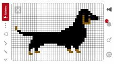 Puppy Crafts, Knitting Paterns, Cross Stitch Animals, Dog Sweaters, Couture, Golden Dog, Dachshunds, Beading Patterns, Pixel Art