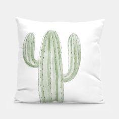 skandinavisch wohnen - hübsches Kaktus-Kissen - auch eine tolle Geschenkidee #kaktus #kakteen #cactus #cacti #illustration #scandinavian #style #deko