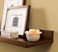 Holman Shelf #potterybarn http://www.potterybarn.com/products/holman-shelf/?pkey=cwall-art-frames-decor-sale&