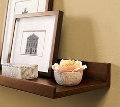 Holman Shelf wine glass & bottle rack on wall white  #potterybarn