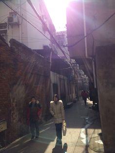 阳光进巷子