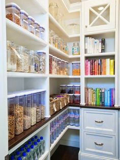 Walk In Pantry Design : Sweet transitional kitchen pantry walk in kitchen is kitchen pantry with white shelving with rustic wood flooring with rustic hard wood floor with walk in kitchen pantry. White sliding barn door kitchen decoratively kitchen walk i