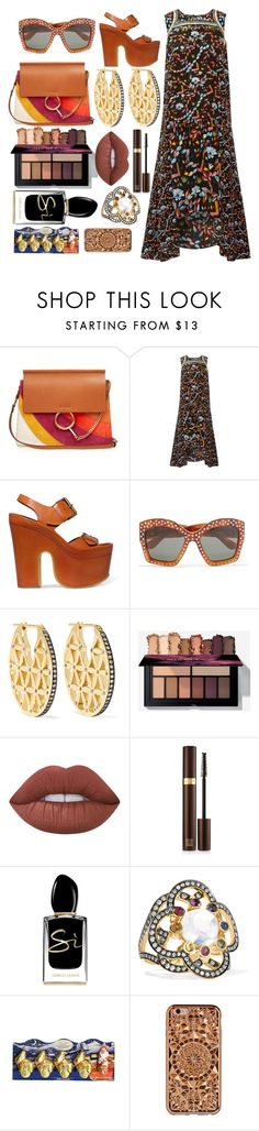 """""""Printed on my mind"""" by pulseofthematter ❤ liked on Polyvore featuring Chloé, Peter Pilotto, STELLA McCARTNEY, Gucci, Noor Fares, Lime Crime, Tom Ford, Giorgio Armani, Lindt and Felony Case"""
