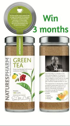Get Your Chance to win 3 months of Instant Green Tea
