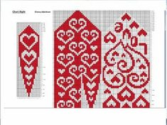 Crochet Mittens Free Pattern, Fair Isle Knitting Patterns, Bead Crochet Patterns, Knit Mittens, Knitting Charts, Knitted Gloves, Knitting Stitches, Knitting Socks, Crochet Yarn