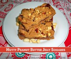 Simply Sweet 'n Savory: Nutty Peanut Butter Jelly Squares or Bars