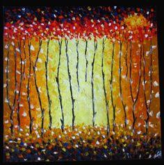 Bush Fire Dream Modern Aborigianl Art Painting  Artist: crawford jane  Artwork title: Bush Fire Dream