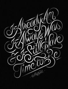 Already Am Print by Jordan Metcalf, via Behance