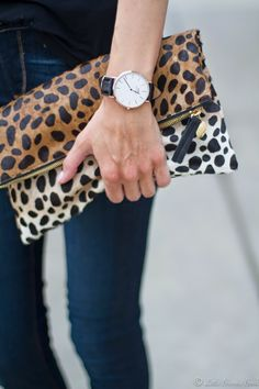 Daniel Wellington Watch | Clare Vivier Clutch