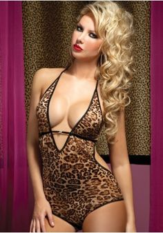Leopard Print Mesh Teddy from ilovesexy.com $23.51 #leopard #sexylingerie #lingerie #teddy #seventilmidnight #sexy