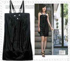 SUBASTAS TERMINAN EL DIA DE MAÑANA  APROVECHENLAS  Vestido Negro Tirantes*moda Asiatica* - $ 1.00