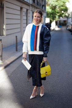 STREET STYLE SPRING 2013: PARIS FASHION WEEK - It's Céline dreams for this showgoer.