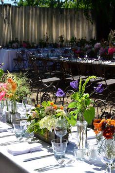 fun outdoor /garden wedding