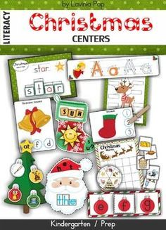 Christmas+Literacy+Centers This+unit+is+included+in+my+Christmas+MEGA+BUNDLE!+Please+do+not+purchase+this+unit+if+you+have+already+purchased+the+mega+bundle! About+this+book: This+book+contains+a+collection+of+games+and+activities+intended+for+use+in+ce Holiday Themes, Christmas Activities, Christmas Themes, Holiday Fun, Winter Activities, Preschool Activities, Preschool Christmas, Kids Christmas, Christmas Crafts