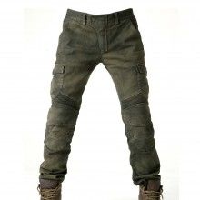 uglyBROS Motorpool Motorcycle Trousers - Stained Olive