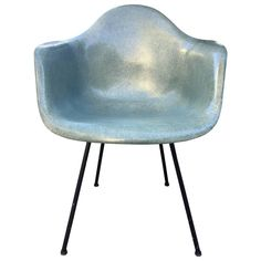 Super Rare Rope Edge Zenith Eames DAX in Seafoam Green | From a unique collection of antique and modern chairs at https://www.1stdibs.com/furniture/seating/chairs/