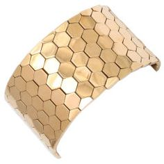 Vintage Honeycomb Trifari cuff bracelet  I have this one