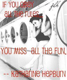Sassy Katharine Hepburn quote