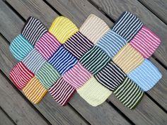 Ravelry: Garter Stripe Square Bag by Ishi-knit