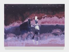 """Artist Brings Back Rococo Painting And Leaves It Out To Rot Gentleman with a horse 19.6"""" x 27.5"""" Acrylic on canvas 2014"""