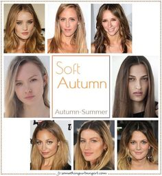 Are you an Autumn-Summer (Soft Autumn)? Soft Autumn, Autumn-Summer seasonal color celebrities by Soft Autumn Deep, Warm Autumn, Autumn Summer, Fall Hair Colors, Summer Colors, Soft Autumn Color Palette, Autumn Colours, Soft Autumn Makeup, Soft Summer Palette