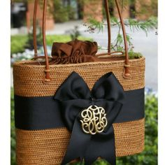 Bows and monograms. What else does a good southern girl need?