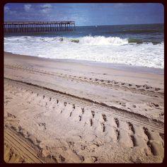 Sunny Freshly Cleaned Beach in Ocean City, MD Ocean City Beach, Beach Town, Pretty Pics, Pretty Pictures, Maryland Beaches, Tire Tracks, Instagram Wall, Sunny Beach, August 2014