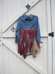 Boho dress rustic tattered gypsy cowgirl funky by ShabyVintage, $49.90