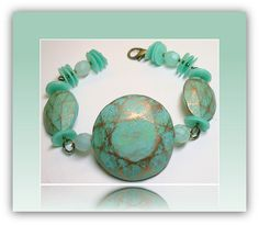 Polymer Clay Frosted Mint Bracelet, via Flickr.