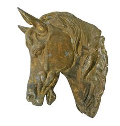 Incredible Zinc Horse Head Farrier's Trade Sign C1880