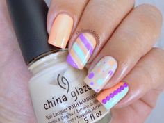 Nail Anarchy January challenge - Summer skittle Get Nails, How To Do Nails, Hair And Nails, China Nails, Nail Art Diy, China Glaze, Short Nails, Skittle, Nail Art Designs