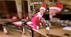 Dad Dresses Up As The Naughty Version Of 'Elf On The Shelf' via LittleThings.com