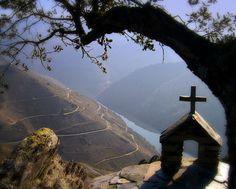 El mirador de la pena do castelo en la Ribeira Sacra/ Galicia